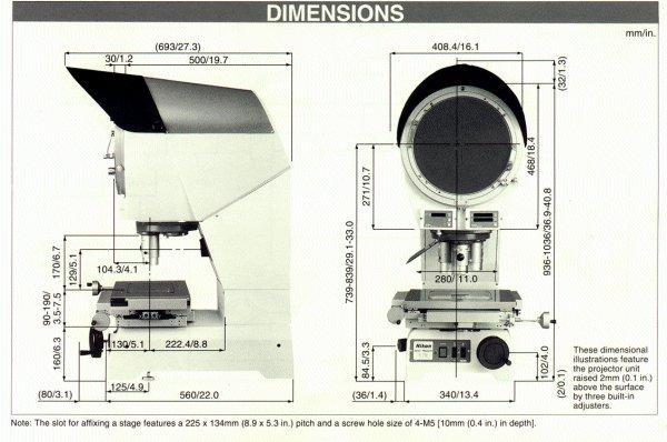 Capra Products  Optical Comparators